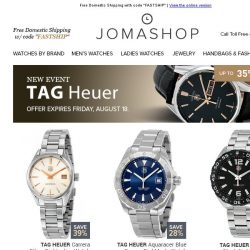 [Jomashop] TAG Heuer • Ferragamo • A|X & Vogue Sunglasses • Ulysse Nardin • Mk Watches