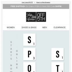 [Saks OFF 5th] Spot The Steals: EXTRA 15% OFF w/ Code