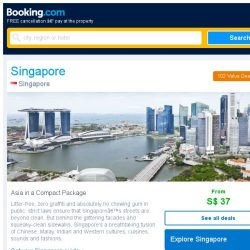 [Booking.com] Deals in Singapore from S$ 37 for August