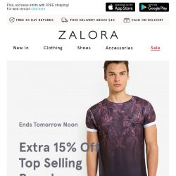 [Zalora] Ends tomorrow Noon: EXTRA 15% off the A-list collection