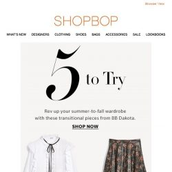 [Shopbop] Rev up your summer-to-fall wardrobe