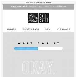 [Saks OFF 5th] Cyber Sunday DEALS are here, but not for long + Want up to a $250 GIFT CARD?!