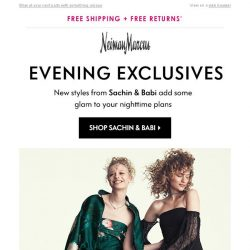 [Neiman Marcus] Exclusive dresses from Sachin & Babi