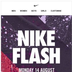 [Nike] Nike Flash. Up to 40% Off. Go!