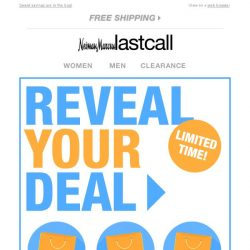 [Last Call] YOU HIT THE JACKPOT! We wanted to notify you to get your code and REVEAL YOUR DEAL!