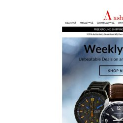 [Ashford] New Weekly Deals:Exclusive prices on a new selection of watches