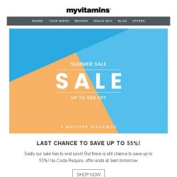 [MyVitamins] Last Chance SALE | Up to 55% off...