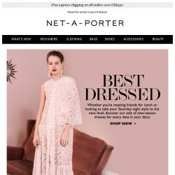 [NET-A-PORTER] Dresses for every date in your diary
