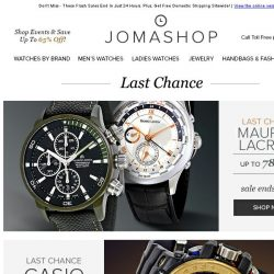 [Jomashop] FINAL HOURS: Panerai • Coach • Casio • Maurice Lacroix • Gucci
