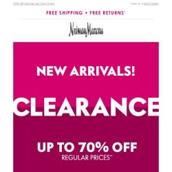 [Neiman Marcus] 3500+ styles just added to Clearance