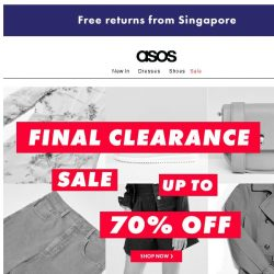 [ASOS] Up to 70% off sale – your one-week warning