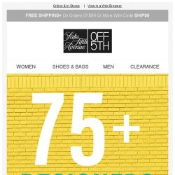 [Saks OFF 5th] Up to 75% OFF DESIGNERS