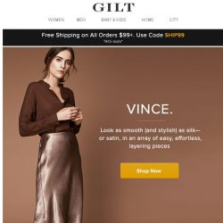 [Gilt] VINCE.: Introducing the new way to dress casual