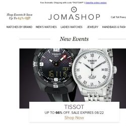 [Jomashop] JUST IN: Tissot • Prada • Cartier • Oris • TechnoMarine