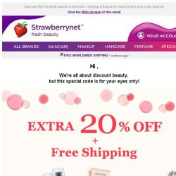 [StrawberryNet] , Want to Snag Extra 20% Off + Free Shipping?