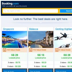 [Booking.com] Singapore, Malacca or Genting Highlands? It's a tough choice...