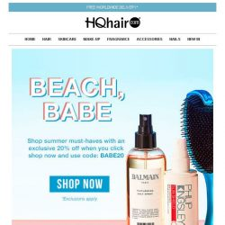 [HQhair] 20% off Summer Must-Haves | Beach Babe