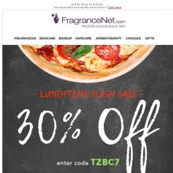 [FragranceNet] Lunchtime Flash Sale - Save up to 70% + EXTRA 30% off