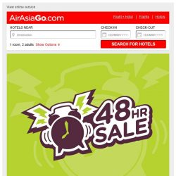 [AirAsiaGo] ⌚ Hi, a reminder - Our sale expires today! ⌚