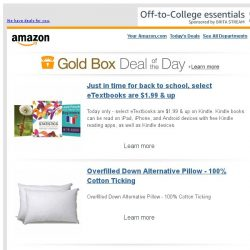 [Amazon] Just in time for back to school, select...