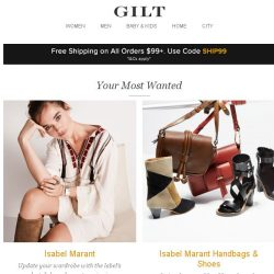 [Gilt] Isabel Marant, Isabel Marant Handbags & Shoes, Urbia Industrial Furniture:Up to 75% Off and More Start Today at 8am ET
