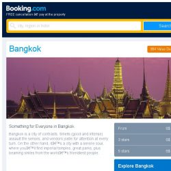 [Booking.com] Deals in Bangkok from S$ 12