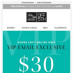 [Saks OFF 5th] Your code for $30 OFF expires in HOURS + Michael Kors on your mind?