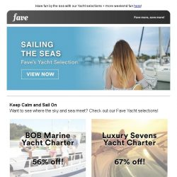 [Fave] Come sail away with us this weekend!
