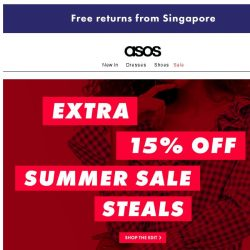 [ASOS] Extra 15% off the summer sale edit
