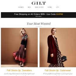 [Gilt] Fall Stock-Up: Sweaters, Fall Stock-Up: Outerwear and More Start Now