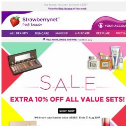 [StrawberryNet] , Extra 10% Off All Value Sets Ends tomorrow!