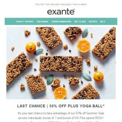 [Exante Diet] Last Chance | Half Price SALE