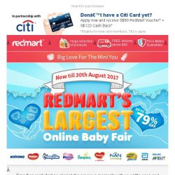 [Redmart] Your Exclusive Access: EXTRA savings on baby essentials 🍼