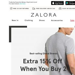 [Zalora] Pair your favourites: EXTRA 15% off when you buy 2!