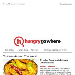 [HungryGoWhere] Sample a spread of delicacies from around the world at A1 Indian Curry, The Beast, The Ramen House & more