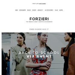 [Forzieri] VIP Back to School Event // 3 days only