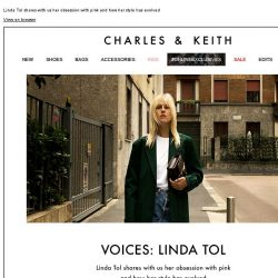 [Charles & Keith] READ MORE | VOICES: LINDA TOL
