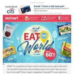 [Redmart] Are you ready for a frozen food trip around the world? ✈