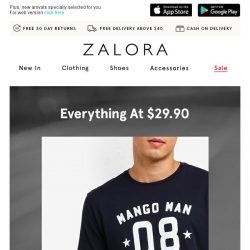 [Zalora] Everything at $29.90 - Don't leave without these!