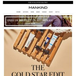 [Mankind] The Gold Star Edit | 20% off & Free Gift inside