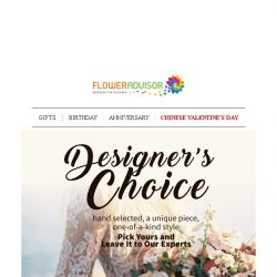 [Floweradvisor] Last Hours to Grab Up To 28% OFF from Our Designer's Choice Collections