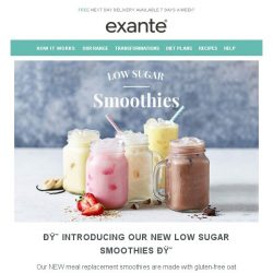 [Exante Diet] Introducing | Low Sugar Smoothies...