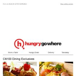 [HungryGoWhere] Got a Citi Card? Enjoy promotions like 1-for-1 Dinner, 30% Off Total Bill, a Free Side & more!