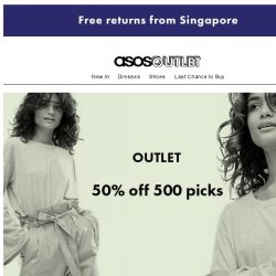 [ASOS] 50% off 500 picks
