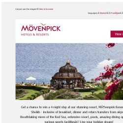 [Mövenpick Hotels & Resorts] ☀ Win a luxury holiday in Sharm el Sheikh!
