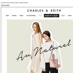 [Charles & Keith] SHOP NOW | NEUTRAL TERRITORY