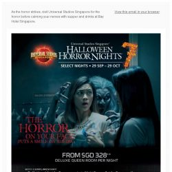 [Bay Hotel] Halloween Horror Night 7 Bay Package from $328++