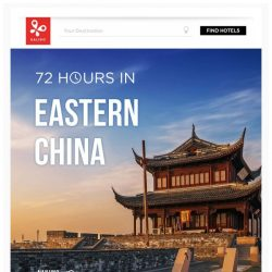 [Kaligo] , earn up to 8,200 Miles in just 72 hours, while exploring Eastern China!