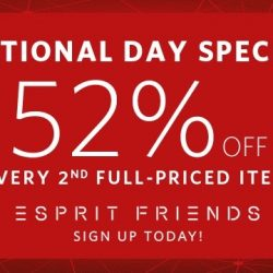 Esprit: Enjoy 52% OFF 2nd Full-Priced Item!