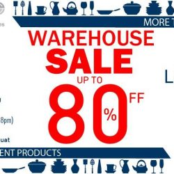 Sia Huat: Annual Warehouse Sale 2017 up to 80% OFF Tableware & Kitchenware
